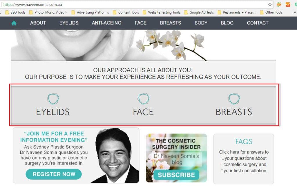high converting medical website