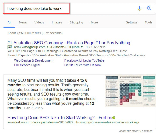 how long seo takes