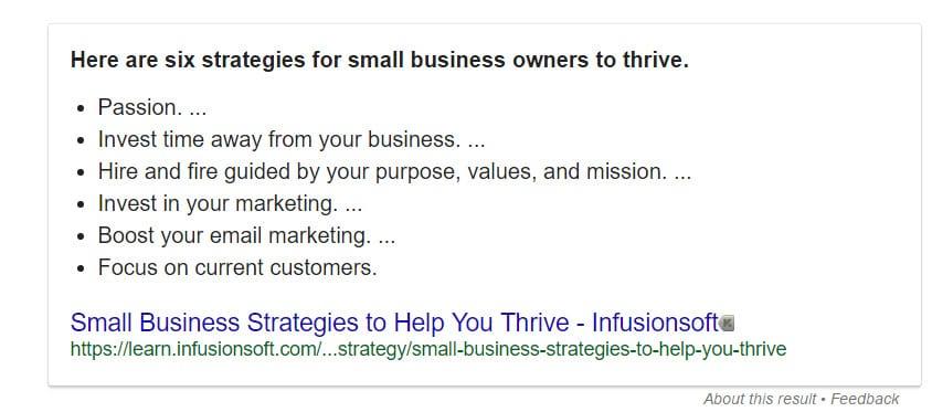 infusionsoft business strategy