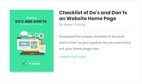 checklist guide home page design