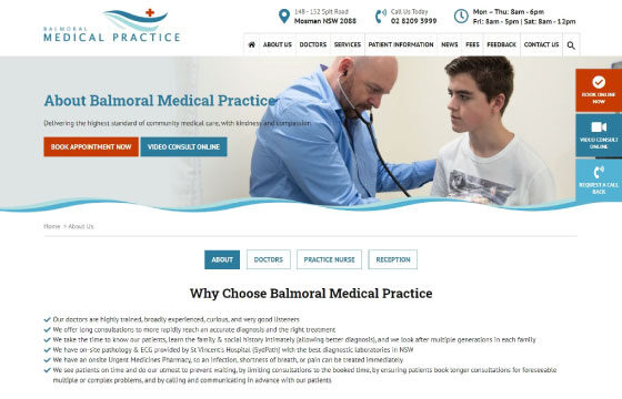 balmoral medical practice about