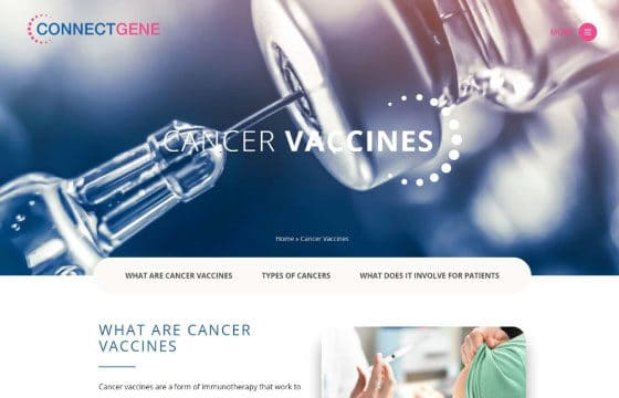 connect gene cancer vaccines