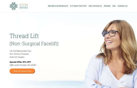 iccm thread lift landing page