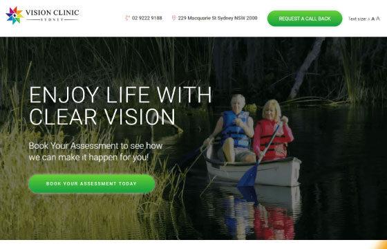 cataract surgery landing page