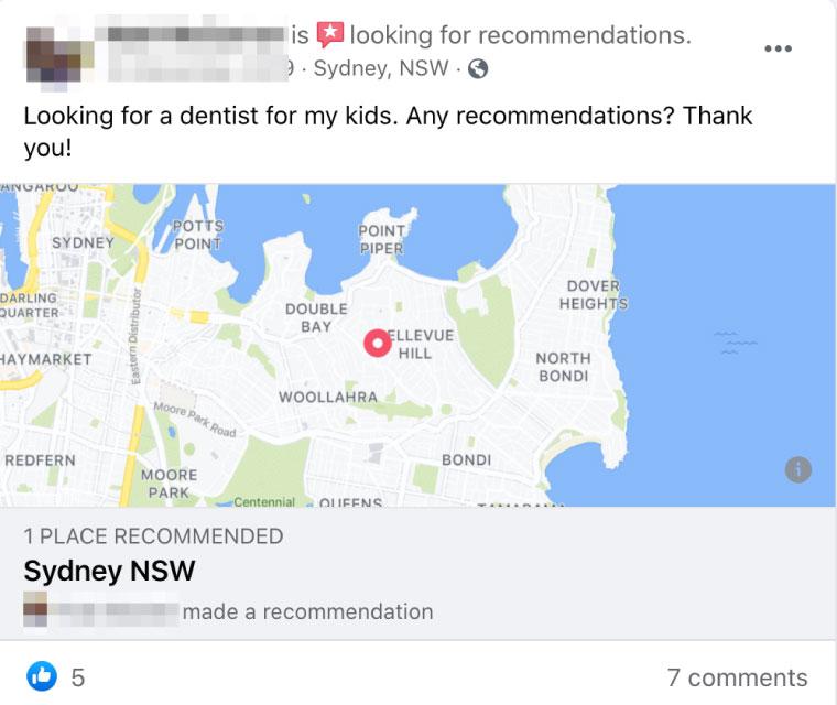 dentists social media management