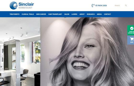 sinclair dermatology hair salon