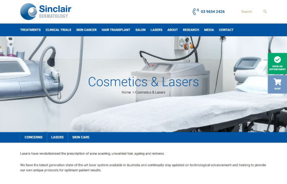 sinclair dermatology lasers