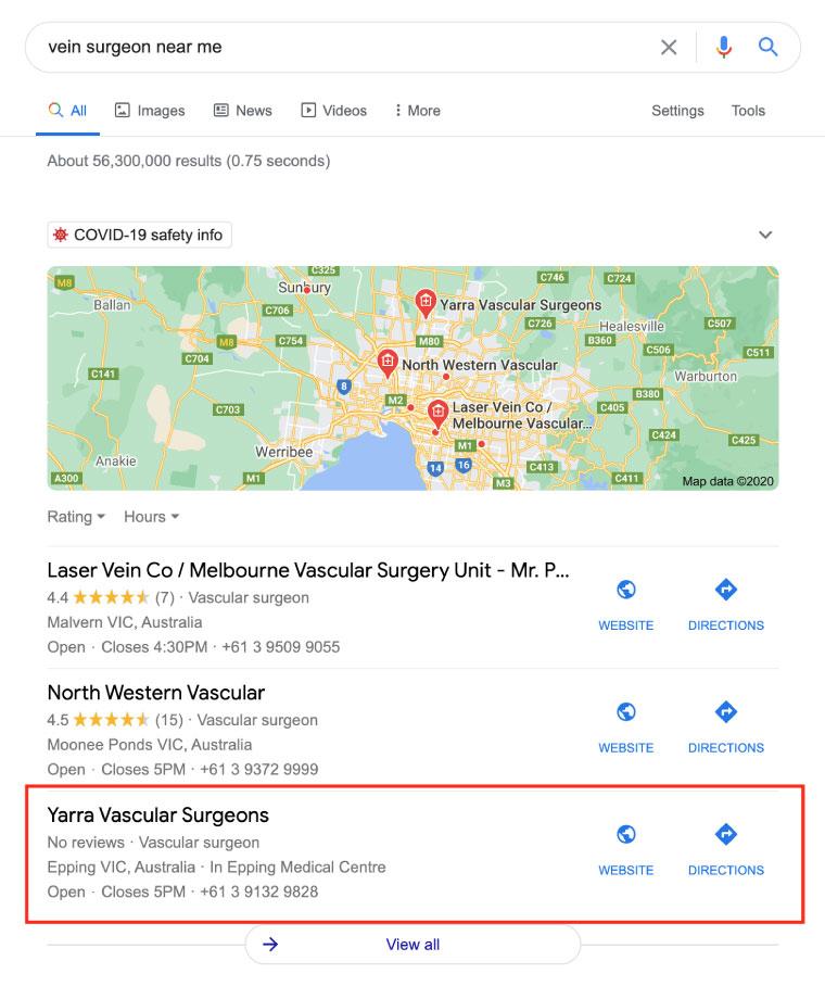 digital marketing for vein surgeons