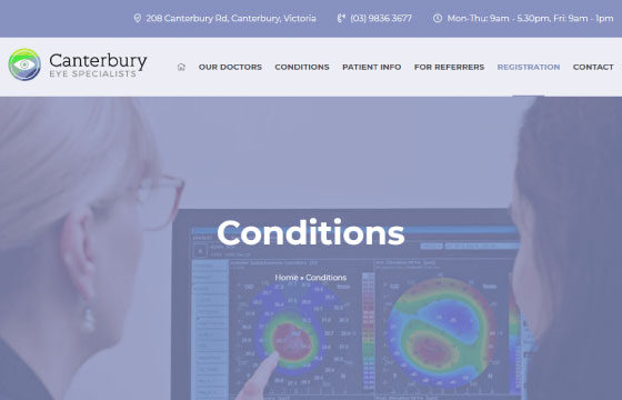 canterbury eye specialists conditions page