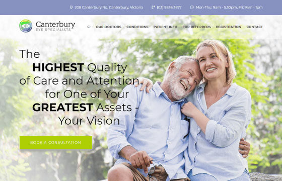canterbury eye specialists home page