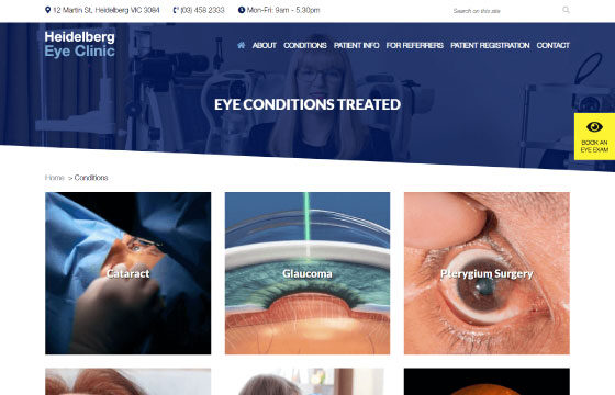 heidelberg eye clinic conditions page