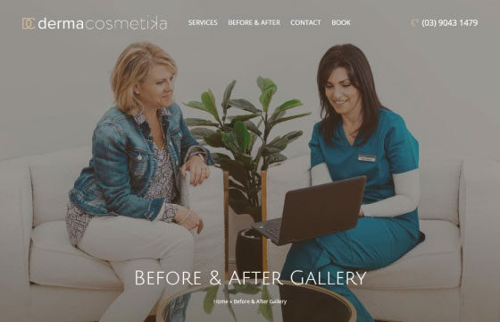 derma cosmetika before and after gallery