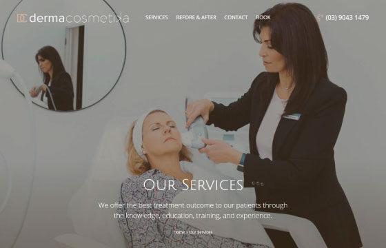 derma cosmetika services page