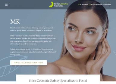 shire cosmetic medicine home page