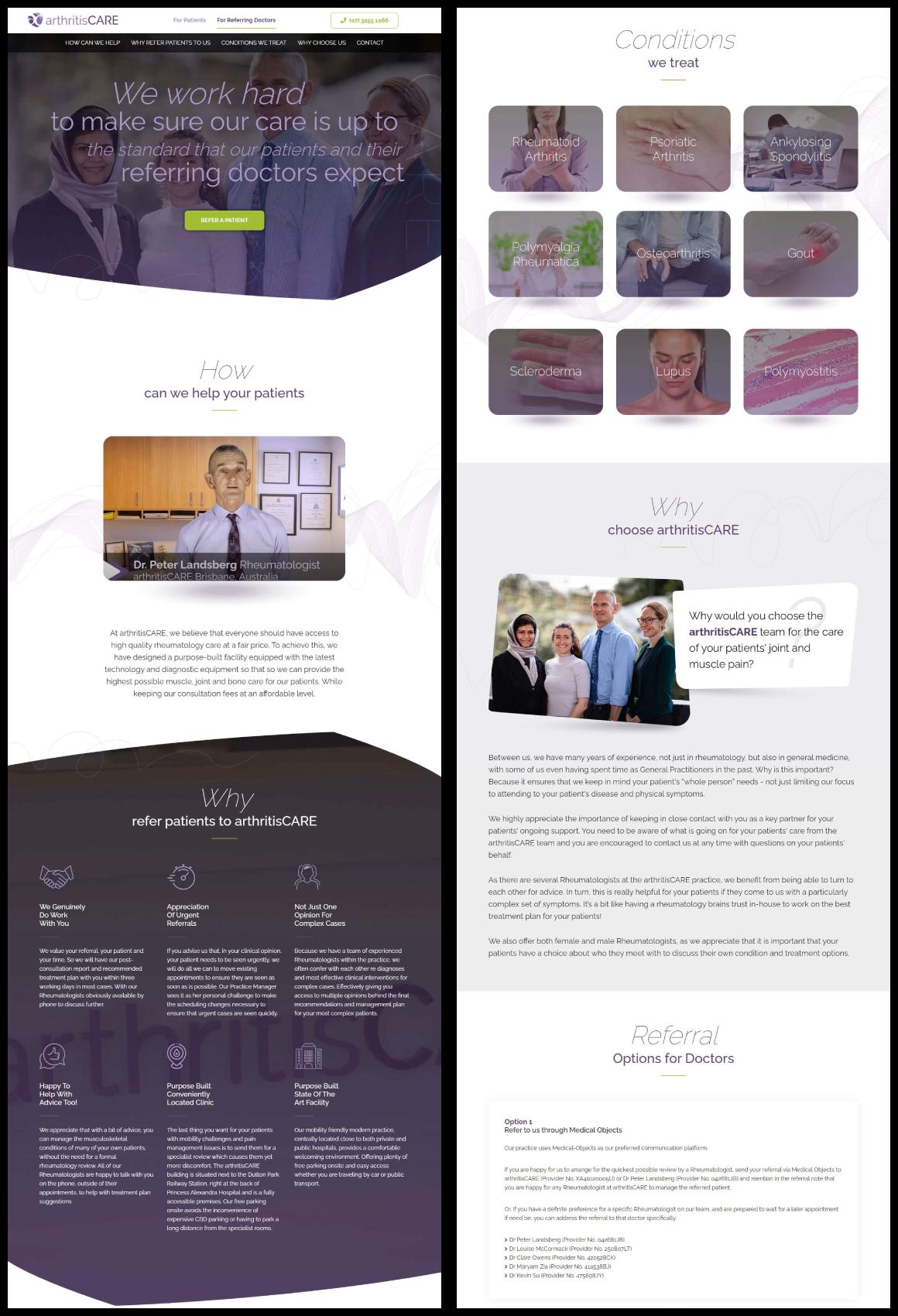 best looking websites in Rheumatology sector